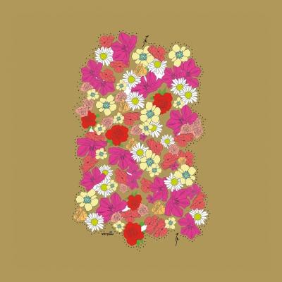 BLUMEN LABYRINTH - ein Geschenk zum Freuen Ausmalen & als Karte .. für die digitale Wundertüte ..