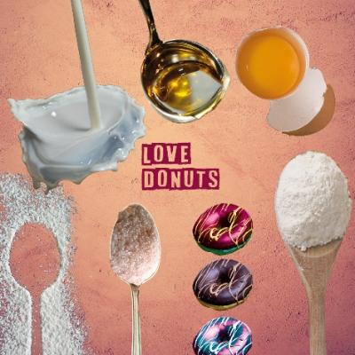 LOVE DONUTS •EIN DONUT-REZEPT .. für die digitale Wundertüte ..