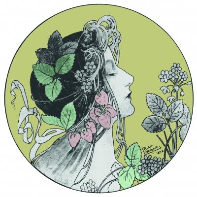elegante JUGENDSTILGRAFIK von Henri Privat Livemont 1898 ..für die digitale Wundertüte..